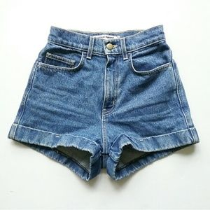 American Apparel High Waist Jean Shorts